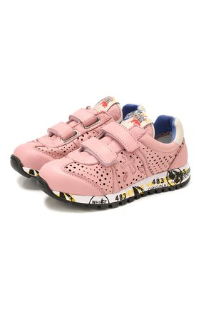 Детские кожаные кроссовки PREMIATA WILL BE розового цвета, арт. LUCY V/1389/CHILD   Фото 1