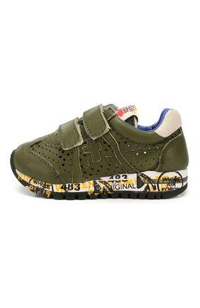 Детские кожаные кроссовки PREMIATA WILL BE хаки цвета, арт. LUCY V/1390/T0D   Фото 2