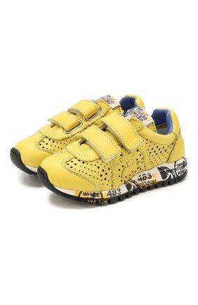 Детские замшевые кроссовки PREMIATA WILL BE желтого цвета, арт. LUCY V/1432/T0D   Фото 1