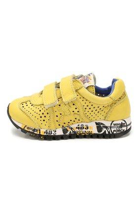 Детские замшевые кроссовки PREMIATA WILL BE желтого цвета, арт. LUCY V/1432/T0D   Фото 2