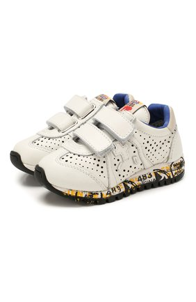 Детские кожаные кроссовки PREMIATA WILL BE белого цвета, арт. LUCY V/1217/T0D | Фото 1 (Материал внутренний: Натуральная кожа; Кросс-КТ: велькро)