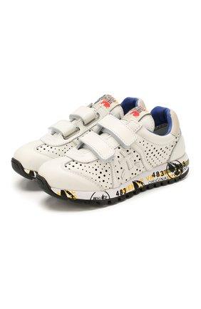 Детские кожаные кроссовки PREMIATA WILL BE белого цвета, арт. LUCY V/1217/CHILD   Фото 1