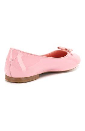 Детские кожаные балетки DOLCE & GABBANA светло-розового цвета, арт. D10341/A1328/37-39 | Фото 3