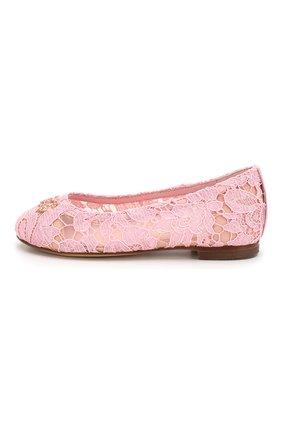 Детские балетки DOLCE & GABBANA розового цвета, арт. D10430/AJ652/24-28 | Фото 2