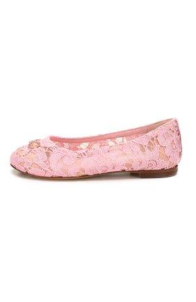 Детские балетки DOLCE & GABBANA розового цвета, арт. D10430/AJ652/29-36 | Фото 2