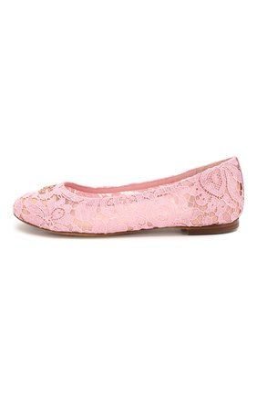 Детские балетки DOLCE & GABBANA розового цвета, арт. D10430/AJ652/37-39 | Фото 2