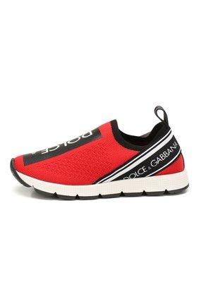 Детские кроссовки DOLCE & GABBANA красного цвета, арт. D10723/AH677/24-28 | Фото 2