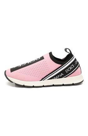 Детские кроссовки DOLCE & GABBANA розового цвета, арт. D10723/AH677/24-28 | Фото 2