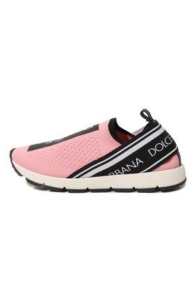 Детские кроссовки DOLCE & GABBANA розового цвета, арт. D10723/AH677/29-36 | Фото 2