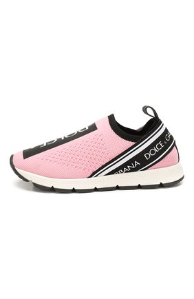 Детские кроссовки DOLCE & GABBANA розового цвета, арт. D10723/AH677/37-39 | Фото 2