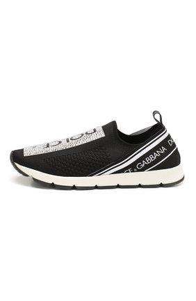 Детские кроссовки DOLCE & GABBANA черно-белого цвета, арт. D10723/AZ259/37-39 | Фото 2