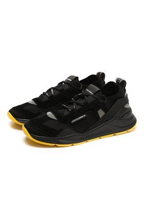 Детские кроссовки DOLCE & GABBANA черного цвета, арт. DA0904/AX036/37-39   Фото 1