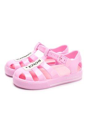 Детские босоножки DOLCE & GABBANA розового цвета, арт. DN0115/AK498/19-28 | Фото 1