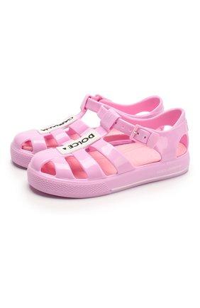 Детские босоножки DOLCE & GABBANA розового цвета, арт. DN0115/AK498/29-36 | Фото 1