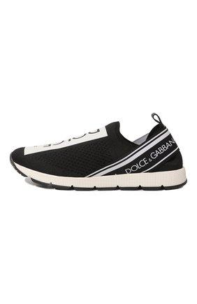 Детские кроссовки DOLCE & GABBANA черно-белого цвета, арт. D10723/AH677/37-39 | Фото 2