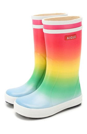 Детские сапоги резиновые AIGLE разноцветного цвета, арт. 2500P3/L0LLY P0P KID | Фото 1