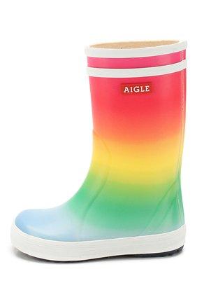 Детские сапоги резиновые AIGLE разноцветного цвета, арт. 2500P3/L0LLY P0P KID | Фото 2