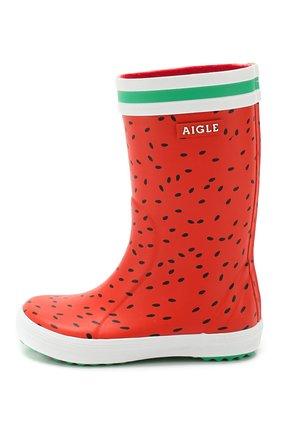 Детские сапоги резиновые AIGLE красного цвета, арт. 382652/L0LLY P0P FUN | Фото 2