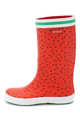 Детские сапоги резиновые AIGLE красного цвета, арт. 382653/L0LLY P0P FUN | Фото 2