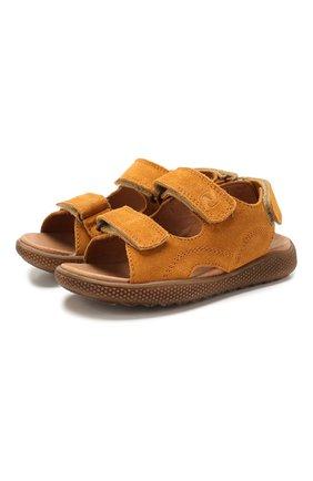 Детские замшевые сандалии NATURINO коричневого цвета, арт. 0010502747/02/27-32   Фото 1
