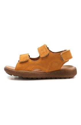 Детские замшевые сандалии NATURINO коричневого цвета, арт. 0010502747/02/27-32   Фото 2