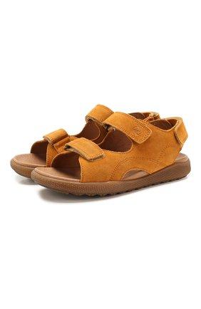 Детские замшевые сандалии NATURINO коричневого цвета, арт. 0010502747/02/33-36   Фото 1