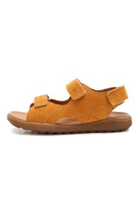 Детские замшевые сандалии NATURINO коричневого цвета, арт. 0010502747/02/33-36   Фото 2