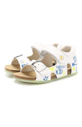Детские кожаные сандалии FALCOTTO белого цвета, арт. 0011500827/01 | Фото 1