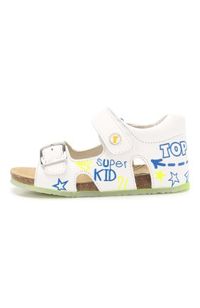 Детские кожаные сандалии FALCOTTO белого цвета, арт. 0011500827/01 | Фото 2