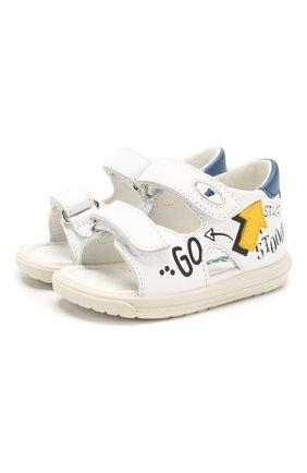 Детские кожаные сандалии FALCOTTO черно-белого цвета, арт. 0011500830/01/B0Y | Фото 1