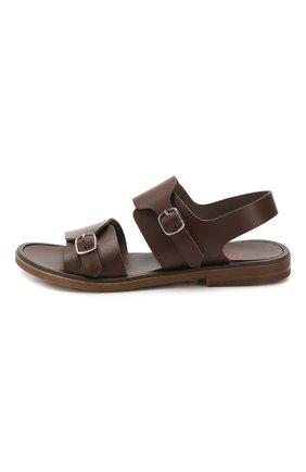 Детские кожаные сандалии JARRETT коричневого цвета, арт. JE2SA03A/FL0RIDA/24-27   Фото 2