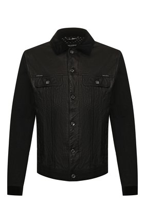 Мужская комбинированная куртка DOLCE & GABBANA черного цвета, арт. G9RG0D/G8BU3 | Фото 1