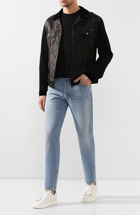 Мужская комбинированная куртка DOLCE & GABBANA черного цвета, арт. G9RG0D/G8BU3 | Фото 2