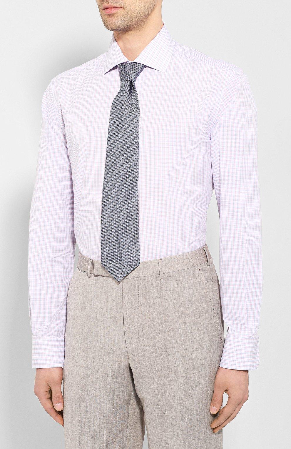 Мужская хлопковая сорочка CORNELIANI разноцветного цвета, арт. 85P100-0111530/00 | Фото 4