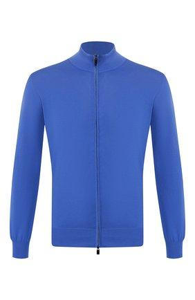 Мужская хлопковый кардиган CANALI синего цвета, арт. C0022/MK00145 | Фото 1