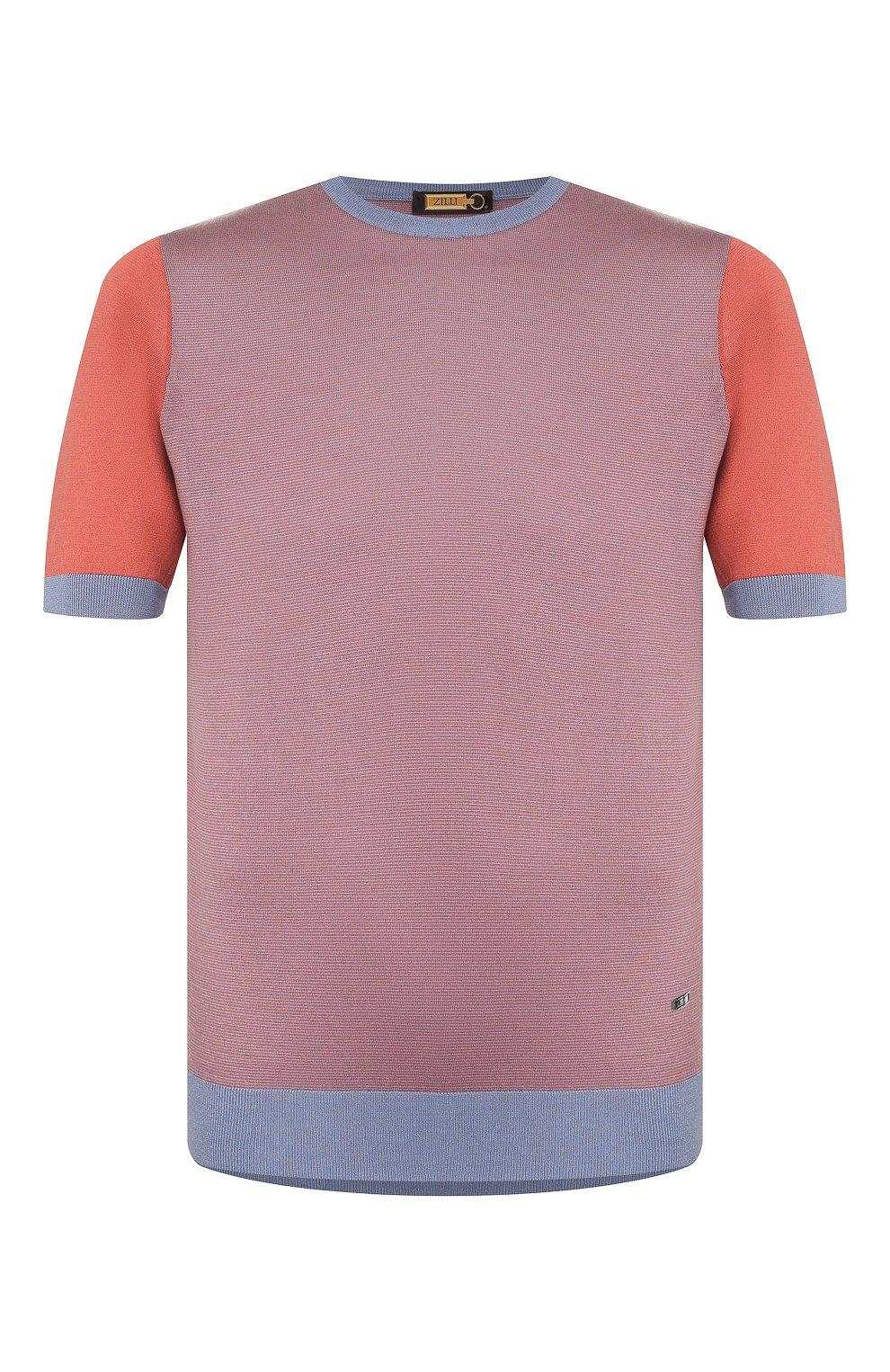 Мужской шелковый джемпер ZILLI розового цвета, арт. MBT-RN060-0PTI1/MC02   Фото 1