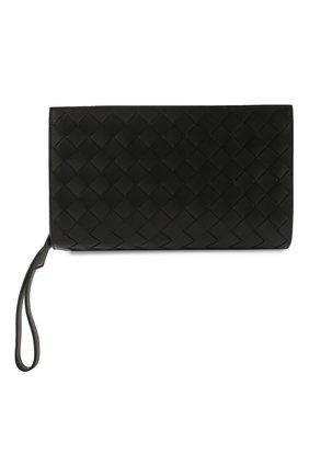 Мужской кожаный несессер BOTTEGA VENETA черного цвета, арт. 598749/VCPQ1 | Фото 4 (Материал: Натуральная кожа)