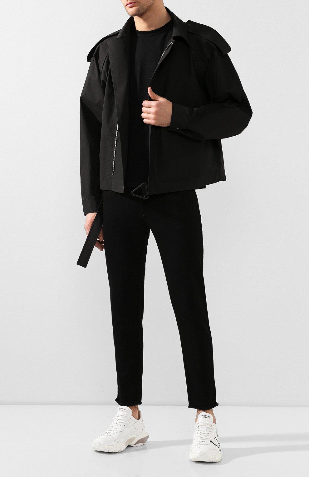 Мужские джинсы GIVENCHY черного цвета, арт. BM50C05Y0M   Фото 2