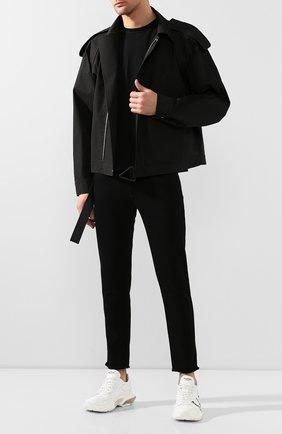 Мужские джинсы GIVENCHY черного цвета, арт. BM50C05Y0M | Фото 2