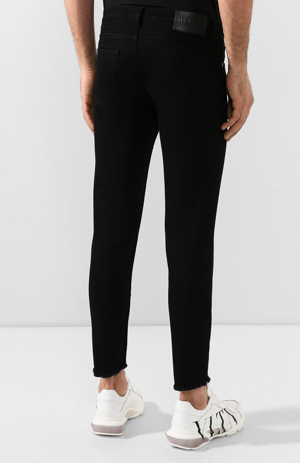 Мужские джинсы GIVENCHY черного цвета, арт. BM50C05Y0M   Фото 4
