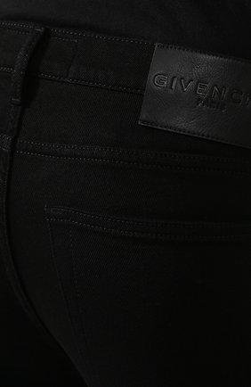 Мужские джинсы GIVENCHY черного цвета, арт. BM50C05Y0M   Фото 5