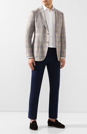 Мужской хлопковые брюки BERWICH темно-синего цвета, арт. SC/1/SB1175 | Фото 2