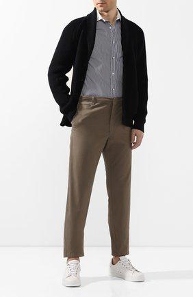 Мужские хлопковые брюки BRIONI темно-бежевого цвета, арт. RPM60L/P8T01/TAKAR0A | Фото 2