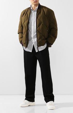 Мужской шерстяные брюки JIL SANDER черного цвета, арт. JSMQ310801-MQ201500 | Фото 2