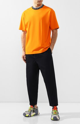 Мужской хлопковые брюки JIL SANDER темно-синего цвета, арт. JSMQ312031-MQ243800 | Фото 2