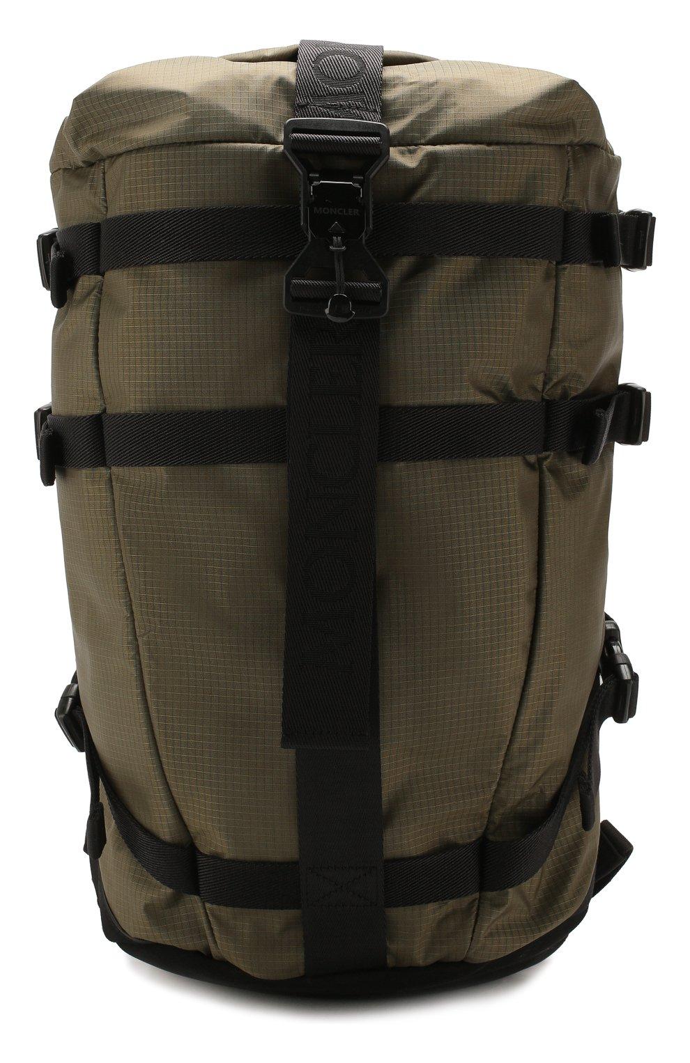 Мужской текстильный рюкзак MONCLER хаки цвета, арт. F1-09A-5A703-10-02SB1 | Фото 1
