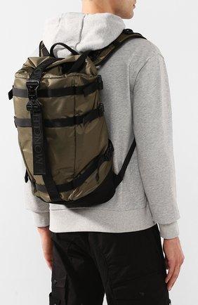 Мужской текстильный рюкзак MONCLER хаки цвета, арт. F1-09A-5A703-10-02SB1 | Фото 2