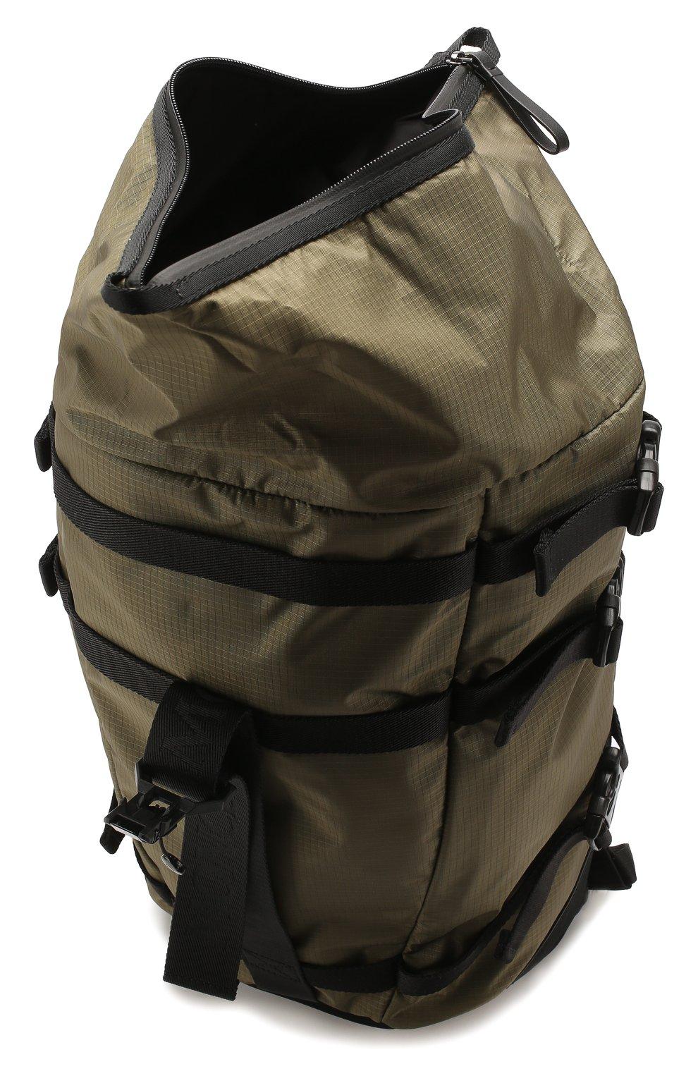 Мужской текстильный рюкзак MONCLER хаки цвета, арт. F1-09A-5A703-10-02SB1 | Фото 4