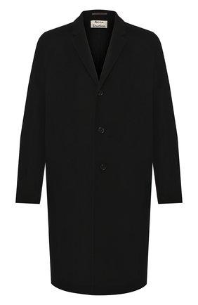 Мужской шерстяное пальто ACNE STUDIOS черного цвета, арт. B90195/M | Фото 1