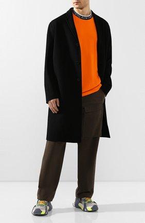 Мужской шерстяное пальто ACNE STUDIOS черного цвета, арт. B90195/M | Фото 2